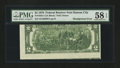 Error Notes:Skewed Reverse Printing, Fr. 1935-J $2 1976 Federal Reserve Note. PMG Choice About Unc 58EPQ.. ...