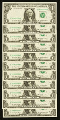 Error Notes:Partial Third Printing, Fr. 1909-G $1 1977 Federal Reserve Notes. Eleven Consecutive Examples. Very Choice Crisp Uncirculated.. ... (Total: 11 notes)