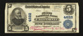 National Bank Notes:Pennsylvania, California, PA - $5 1902 Plain Back Fr. 602 The First NB Ch. #4622. ...