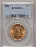 Liberty Eagles: , 1882-S $10 MS62 PCGS. PCGS Population (63/12). NGC Census: (79/21).Mintage: 132,000. Numismedia Wsl. Price for problem fre...