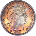 Barber Half Dollars, 1911 50C MS66 PCGS Secure. CAC....