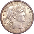 Barber Half Dollars, 1909 50C MS66+ PCGS Secure. CAC....