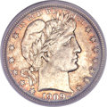 Barber Half Dollars, 1909-O 50C MS66 PCGS Secure....