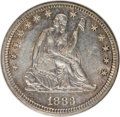 Seated Quarters, 1883 25C MS62 NGC. NGC Census: (5/56). PCGS Population (10/54).Mintage: 14,400. Numismedia Wsl. Price for NGC/PCGS coin in...