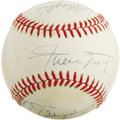 Autographs:Baseballs, 1984 New York Baseball Writers' Dinner Multi-Signed Baseball. Sevensignatures collected at the 1984 edition of the annual d...
