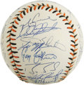 Autographs:Baseballs, 1993 NL All-Star Team Signed Baseball. An impressive 34 signaturesfrom the 1993 NL All-Stars appear on the official orb fr...