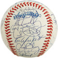 Autographs:Baseballs, 1990 AL All-Star Team Signed Baseball. One of the finest MidsummerClassic squads ever assembled is represented here with th...