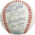 Autographs:Baseballs, 1994-95 Detroit Tigers Team Signed Baseball. Dating from themid-1990s, this Detroit Tigers team signed baseball sports the...