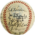 Autographs:Baseballs, 1951 Washington Senators Team Signed Baseball. A total of 27signatures from the members of the 1951 Washington Senators ba...
