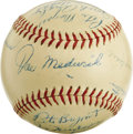 Autographs:Baseballs, 1930s Houston Buffaloes Team Signed Baseball. The Houston Buffaloeswere an important farm team of the St. Louis Cardinals,...
