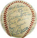 Autographs:Baseballs, 1951 Chicago White Sox Team Signed Baseball. A whopping 29signatures appear here on the surface of the official American L...