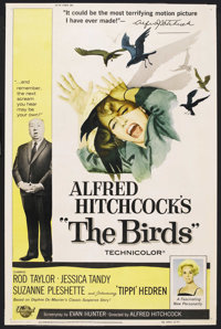 "The Birds (Universal, 1963). Poster (40"" X 60""). Hitchcock"