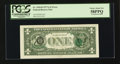 Error Notes:Third Printing on Reverse, Fr. 1910-B $1 1977A Federal Reserve Note. PCGS Choice About New 58PPQ.. ...