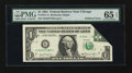 Error Notes:Foldovers, Fr. 1911-G $1 1981 Federal Reserve Note. PMG Gem Uncirculated 65EPQ.. ...