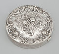 Silver Smalls:Other , AN AMERICAN SILVER COMPACT. Gorham Manufacturing Co., Providence,Rhode Island, circa 1920. Marks: GORHAM, STERLING, 325...