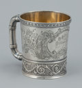 Silver Holloware, American:Cups, AN AMERICAN SILVER AND SILVER GILT CUP. Gorham Manufacturing Co.,Providence, Rhode Island, 1887. Marks: (lion-anchor-G), ...