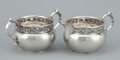 Silver Holloware, American:Creamers and Sugars, AN AMERICAN SILVER CREAMER AND SUGAR BOWL. Gorham Manufacturing Co., Providence, Rhode Island, circa 1910. Marks: GORHAM, ... (Total: 2 Items Items)