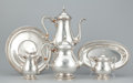 Silver Holloware, American:Coffee Pots, AN AMERICAN SILVER TEA AND COFFEE SERVICE . International SilverCo., Meridan, Connecticut, circa 1920. Marks: Prelude, IN...(Total: 6 Items Items)