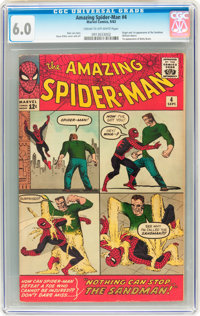 The Amazing Spider-Man #4 (Marvel, 1963) CGC FN 6.0 Cream to off-white pages