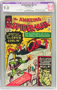 The Amazing Spider-Man #14 (Marvel, 1964) CGC Apparent VF/NM 9.0 Off-white to white pages