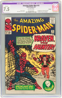 The Amazing Spider-Man #15 (Marvel, 1964) CGC Apparent VF- 7.5 Off-white pages