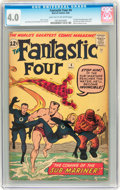 Silver Age (1956-1969):Superhero, Fantastic Four #4 (Marvel, 1962) CGC VG 4.0 Light tan to off-white pages....