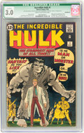 Silver Age (1956-1969):Superhero, The Incredible Hulk #1 Incomplete (Marvel, 1962) CGC Qualified GD/VG 3.0 Cream to off-white pages....