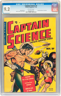 Captain Science #1 (Youthful Magazines, 1950) CGC NM- 9.2 Off-white pages