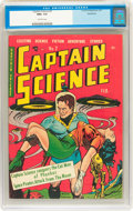 Golden Age (1938-1955):Science Fiction, Captain Science #2 Bethlehem pedigree (Youthful Magazines, 1951)CGC NM+ 9.6 Off-white pages....