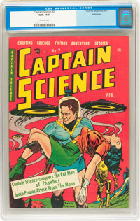 Captain Science #2 Bethlehem pedigree (Youthful Magazines, 1951) CGC NM+ 9.6 Off-white pages