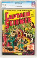 Golden Age (1938-1955):Science Fiction, Captain Science #5 Bethlehem pedigree (Youthful Magazines, 1951) CGC VF/NM 9.0 Cream to off-white pages....