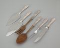 Silver Flatware, American:Kirk, SIX AMERICAN SILVER FLATWARE SERVING PIECES. Samuel Kirk & Son,Baltimore, Maryland, circa 1896. Marks: S. KIRK & SONINC.... (Total: 6 Items Items)