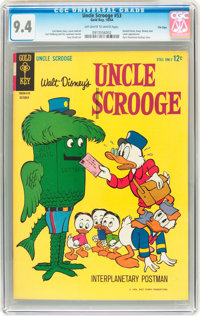 Uncle Scrooge #53 File Copy (Gold Key, 1964) CGC NM 9.4 Off-white to white pages