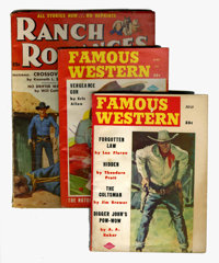 Western Pulp Group (Miscellaneous Publishers, 1956-58) Condition: Average VG.... (Total: 7 Items)