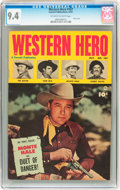 Golden Age (1938-1955):Western, Western Hero #107 (Fawcett, 1951) CGC NM 9.4 Off-white to white pages....