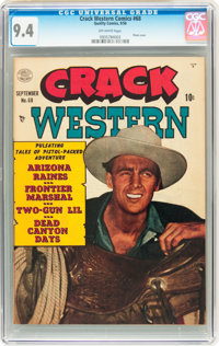 Crack Western #68 (Quality, 1950) CGC NM 9.4 Off-white pages