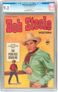 Bob Steele Western #3 (Fawcett, 1951) CGC NM- 9.2 Off-white to white pages