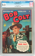 Golden Age (1938-1955):Western, Bob Colt #1 (Fawcett, 1950) CGC VF+ 8.5 Off-white to white pages....
