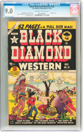 Golden Age (1938-1955):Western, Black Diamond Western #22 (Lev Gleason, 1950) CGC VF/NM 9.0 Off-white to white pages....