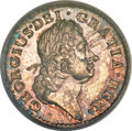 Colonials, 1723 FARTH Hibernia Pattern Farthing, Silver MS65 PCGS. CAC.Breen-173, Nelson-7, Martin 3.2-Bc.10, R.5....