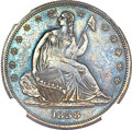 Patterns, 1838 P50C Seated Liberty Half Dollar, Judd-80 Restrike, Pollock-87,High R.7, PR63 NGC....