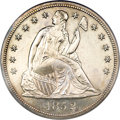 Proof Seated Dollars, 1852 $1 Restrike PR63 PCGS. CAC....