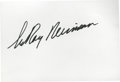 Autographs:Index Cards, LeRoy Neiman Signed Index Card....