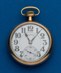 Timepieces:Pocket (post 1900), Illinois 21 Jewel 16 Size Abe Lincoln. ...