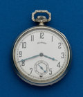 "Timepieces:Pocket (post 1900), Illinois 17 jewel, 12 Size ""Capitol"". ..."