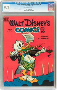 Walt Disney's Comics and Stories #114 (Dell, 1950) CGC NM- 9.2 Off-white to white pages