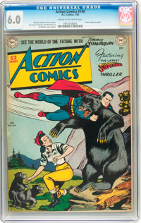 Action Comics #140 (DC, 1950) CGC FN 6.0 Cream to off-white pages