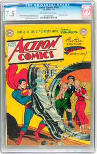 Action Comics #146 (DC, 1950) CGC VF- 7.5 Off-white to white pages