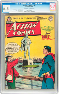 Action Comics #161 (DC, 1951) CGC FN+ 6.5 Off-white to white pages