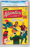 Golden Age (1938-1955):Superhero, Adventure Comics #163 (DC, 1951) CGC VF 8.0 Light tan to off-white pages....